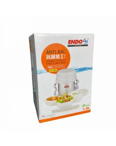 ENDO CX+1007 DOUBLE STAINLESS STEEL LUNCH BOX