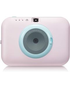 LG Pocket Photo Snap Baby Pink Body with Blue Lens