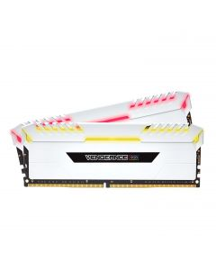 CORSAIR VENGEANCE RGB 16GB (2x8GB) DDR4 3000MHz C15 Desktop Memory - White