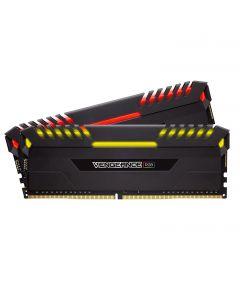 CORSAIR VENGEANCE RGB 16GB (2x8GB) DDR4 3000MHz C16 Desktop Memory - Black