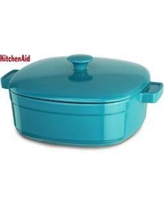 KitchenAid KCLI60CRCC Classic Nonstick Bakeware 6-Quart Casserole Curacao Blue