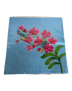 SHEVRON CUSHION COVER NEW ORCHID BLUE