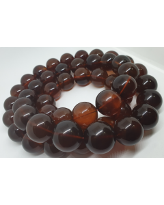 NATURAL AMBER NECKLACE 48PCS WITH CERT