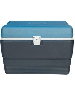 Igloo MaxCold Cooler, Jet Carbon/Ice Blue/White, 50 quart/47L