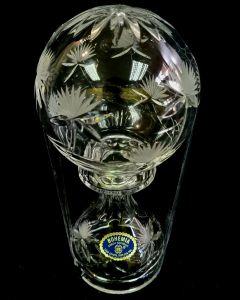 BOHEMIA CRYSTAL OIL LAMP HEIGHT 21CM