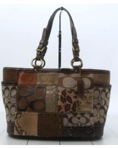 COACH TOTE BAG-BROWN PATCH STYLE