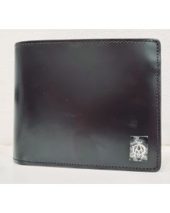 DUNHILL WALLET-BLACK LEATHER