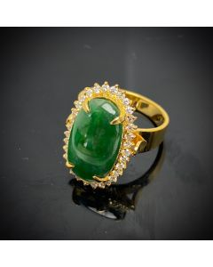 JADE DIAMOND RING