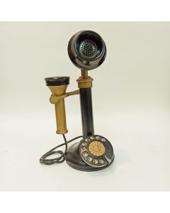 METAL CANDLESTICK TELEPHONE COLLECTABLE