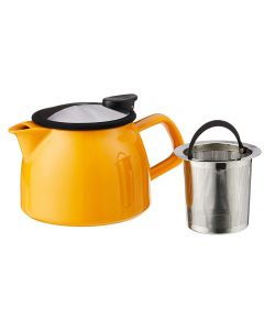 Forlife FL/543-MND Bell Tea Pot with Basket Infuser, 470 ml, Mandarin