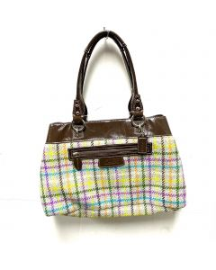 COACH SHOULDER BAG PENELOPE TATTERSALL TARTAN WOOL