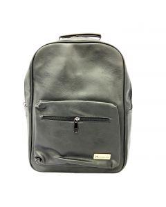 Modoker Black Leather Travel Laptop Backpack