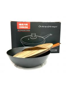 Wok with Wooden Lid