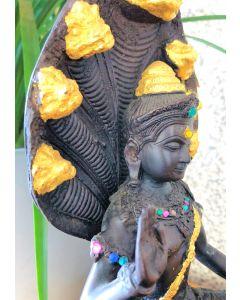Naga Mucalinda 7 Headed Serpent Statue