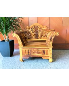 Teak Fretwork Carved Armchair