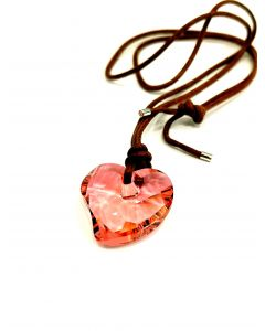 NECKLACE-PINK HEART PENDANT