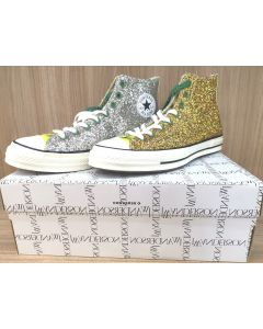 SNEAKERS-SIL/GOLD GLITTER/UK11