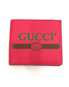 WALLET-PINK GG LEATHER