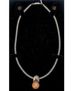 NECKLACE-PEARL/SILVER/CRYSTAL