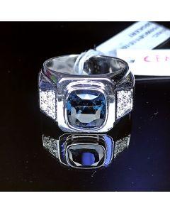 MEN'S BLUE SPINEL DIAMOND RING