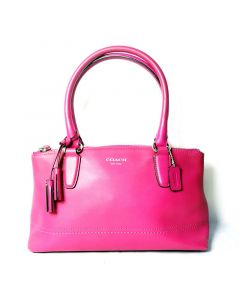 COACH Pink Full-Leather Small Handbag