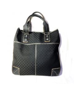 Vintage Celine Black Canvas Tote