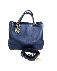 Michael Kors 2-way Bag in Navy Blue Leather