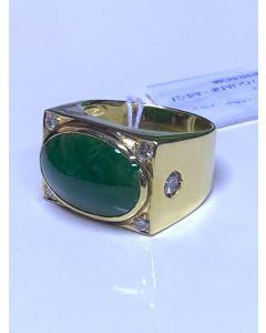 Men's Jade(Grade A) / Diamond Ring