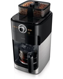 Philips HD7762/00 Grind and Brew Coffee Maker with Integrated Coffee Grinder - Black/Silver