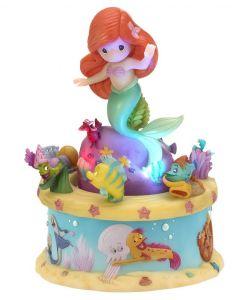 Precious Moments Disney Showcase Ariel Little Mermaid Resin Rotating LED Music Box 182171