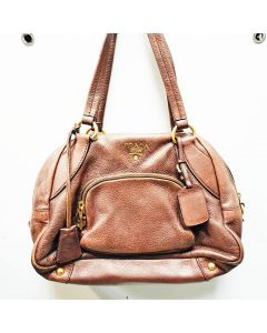 PRADA SHOULDER BAG SOFT LEATHER