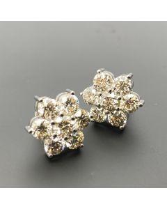 EARRINGS BRILLIAN CUT DIAMOND