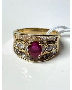 Ladies Ruby/Diamond Ring