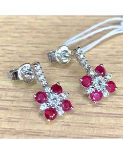 Ruby Earring w/ Diamonds