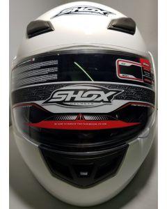 Shox Bullet Flip Front Motorcycle Helmet White M 57-58/1650 Grs