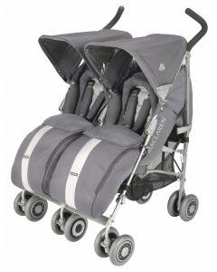 Maclaren Twin Techno Stroller Silver/Grey