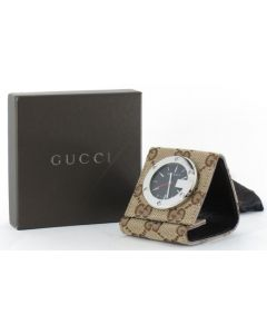 TRAVEL CLOCK FOLDABLE CANVAS & LEATHER