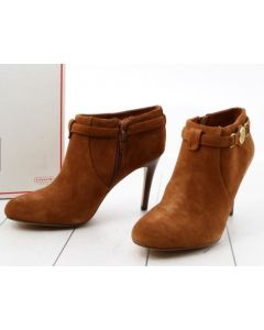 COACH BOOTS W/HEEL-ANKLE/CAMEL