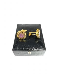 FLORAL CARVING FASHION CUFFLINK